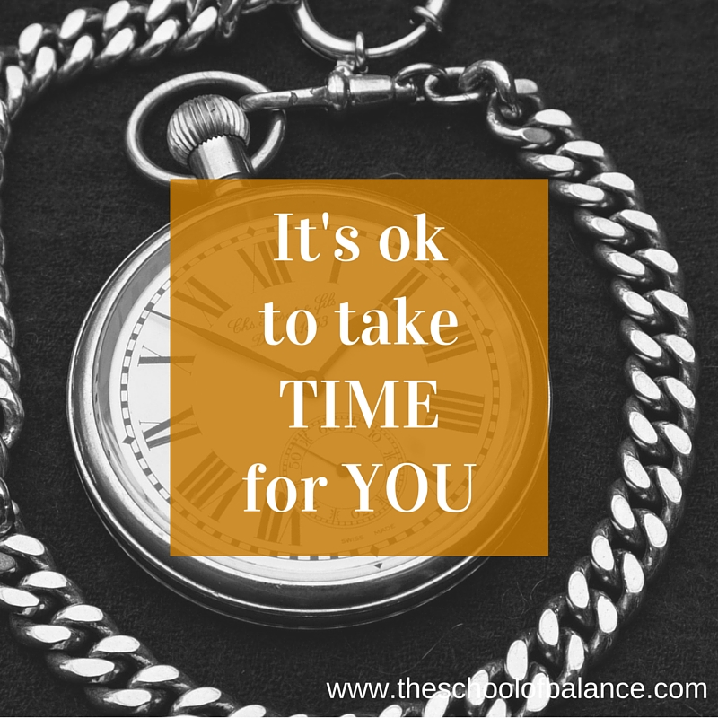 It's ok to take time for you blog
