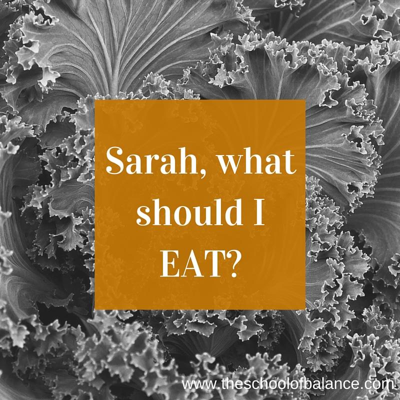 Sarah what should I eat blog