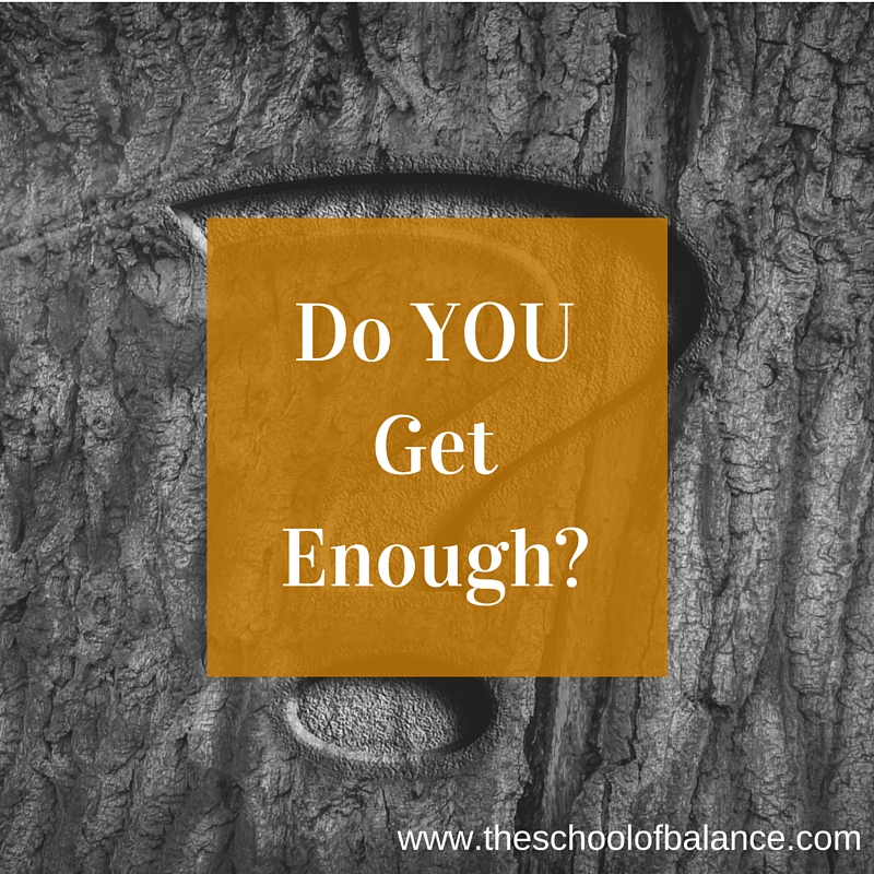 Do you get enough blog