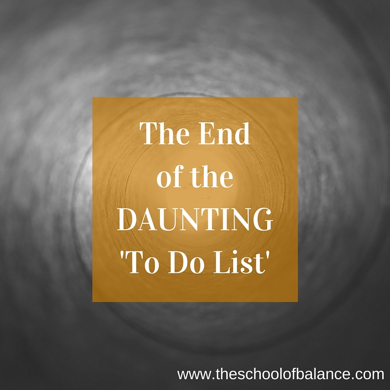 the end of the daunting to do list blog