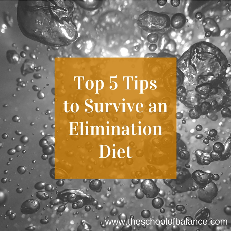 top 5 tips to survive an elimination diet
